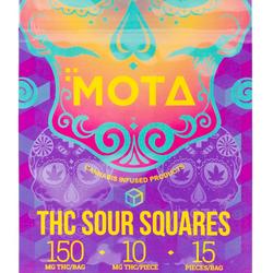 🟡THC Sour Squares    ◾MOTA◾     ◈150mg