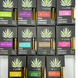 9 Lives Vapes 1000MG For $60 - Real Cannabis Terpenes 11 Strain
