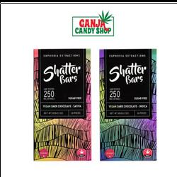Euphoria Extractions Vegan Dark Chocolate Shatter Bars 250mg THC