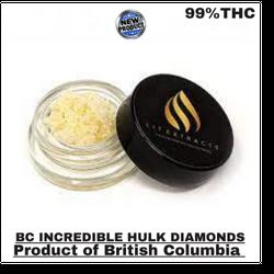 BC LIT EXTRACT INCREDIBLE HULK THCa DIAMONDS (1GRAM)