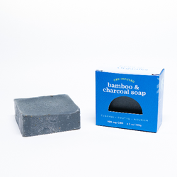 CBD Infused Bamboo charcoal soap