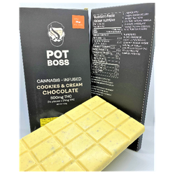 Pot Boss - Cookies & Cream Chocolate -500MG THC- Sativa