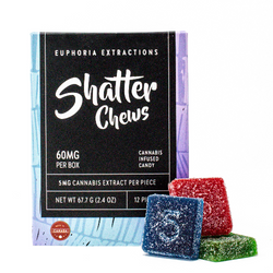 Indica Shatter Chews - 60mg Full Spectrum Extract