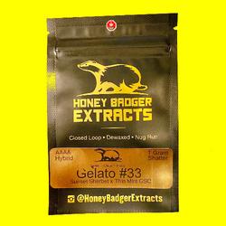 Honey Badger Extracts Gelato #33 (shatter)
