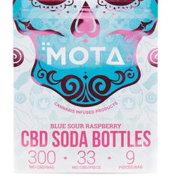 🥏SOUR Blue Raspberry  CBD Soda Bottles    ▪MOTA▪   ◈300mg