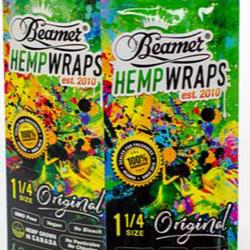 Beamer 1 1/4 SIZE vegan hemp wraps box shipping only