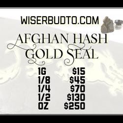 * Afghan Hash Gold Seal