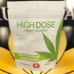 ***SALE***Sour Cherry Sativa Gummies 200 mg THC BY High Dose