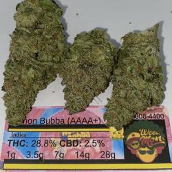 *NEW* Lemon Bubba (AAAA+)  THC: 28.2% CBD: 2.5%