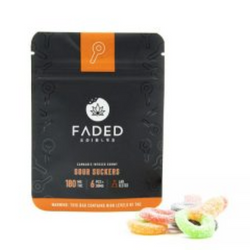 FADED EDIBLES - SOUR SUCKERS | 180MG