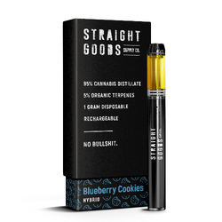 """STRAIGHT GOODS - DISPOSABLE - """"BLUEBERRY COOKIES"""" (1G)"""