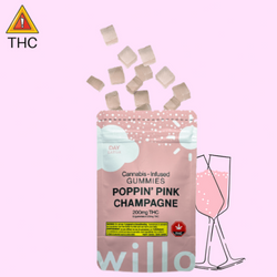 200mg Poppin' Pink Champagne Gummies by Willo (Day)