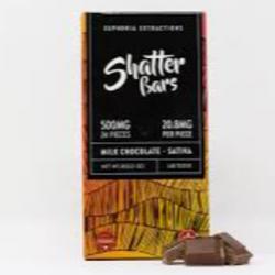 500mg Sativa Milk Chocolate Shatter Bar