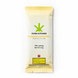 KUSH KITCHEN - 400MG THC CHOCOLATE BARS - Banana & Cream