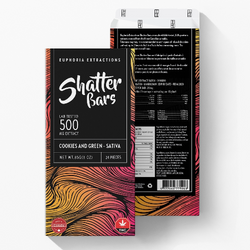 Euphoria Extractions - Shatter Bars Cookies & Green - 500mg Sativa