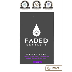Faded Extracts Purple Kush Shatter