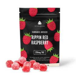 BuudaBomb Gummies - 250mg THC - Rippin Red Raspberry