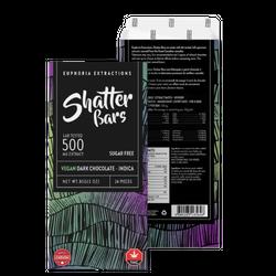 Euphoria Extractions Dark Chocolate Vegan Shatter Bar - 500MG Indica