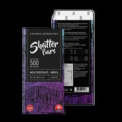Euphoria Extractions Milk Chocolate Shatter Bar - 500MG Indica