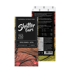 Euphoria Extractions Toffee Crunch Shatter Bar - 250 MG Sativa