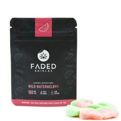 Faded Cannabis Co. 180mg Gummies - Wild Watermelons