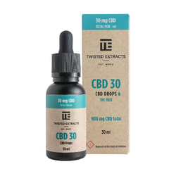 Twisted Extracts Oil Drops – CBD 30 Orange Flavoured (900mg CBD – 30ml)- new pricing