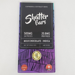 Shatter Bars By Euphoria Extracts 500mg -Milk Chocolate - Indica