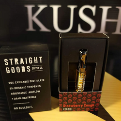 Strawberry Cough Hybrid  Vape Cartridge by Straight Goods