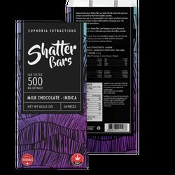 Euphoria Extraction Shatter bar - Milk chocolate 500mg Indica