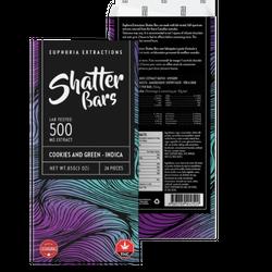 Euphoria Extraction Shatter bar - Cookies N Green 500mg Indica