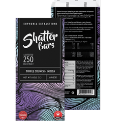 Euphoria Extraction Shatter bar - Toffee Crunch 250mg Indica