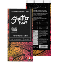 Euphoria Extraction Shatter bar - Toffee Crunch 500mg Sativa