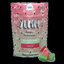 Yumm GUMMIES - WATERMELON SLUSH 500MG SATIVA OR INDICA- Buy 3 for 20$ each