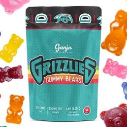 GANJA – ASSORTED GRIZZLIES REGULAR GUMMY BEARS 350MG THC