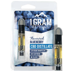 BC Vapes 1 Gram Cartridges CBD - Blueberry