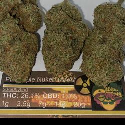 Pineapple Nuken (AAAA) THC: 26.1% CBD: 1.0%