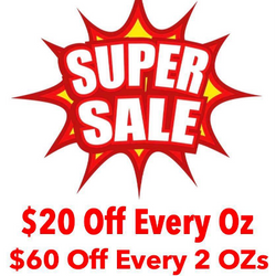 *Super Sale* Receive $20 Off Any Oz , $60 Off Any 2 OZs