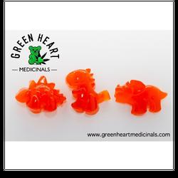 DINO GUMMIES (Orange   Sativa) - 500mg (100mg x 5 gummies)