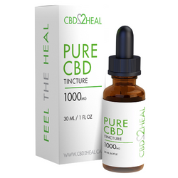 CBD2Heal Pure CBD Oil Tincture 1000mg (30 ml Bottle)