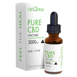 CBD2Heal Pure CBD Oil Tincture 3000mg (30 ml Bottle)
