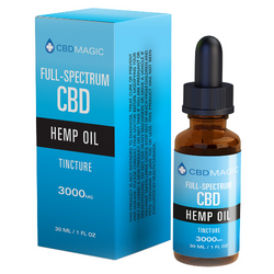 Full Spectrum CBD Hemp Oil Tincture 3000mg (30 ml Bottle)