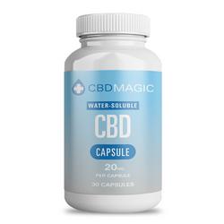 Water Soluble CBD Gel Capsules 600mg (30 caps)