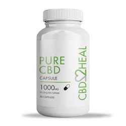 CBD2Heal Pure CBD Gel Capsules 1000mg (30 caps)