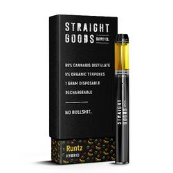 "[Straight Goods] Rechargeable Disposable - ""Runtz""  (1 Gram)"