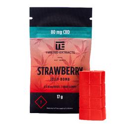 [Twisted Extracts] Strawberry CBD Jelly Bomb (80mg CBD)