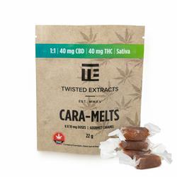 [Twisted Extracts] Cara-Melts 1:1 Sativa/ CBD (40mg THC + 40mg CBD)