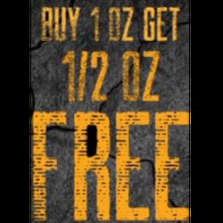 (QUADS)Purchase 1oz get 1/2 oz free