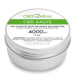 CBD2HEAL CBD Healing Salve Cream 4000mg