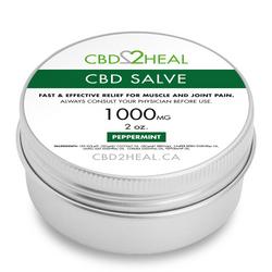 CBD2HEAL CBD Healing Salve Peppermint 1000mg