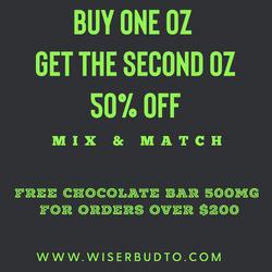 * Buy 1 oz Get The Second Oz 50% off